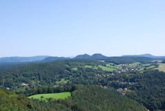 View landscape elbsandsteingebirge Royalty Free Stock Photo