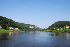 View landscape elbsandsteingebirge Stock Photography