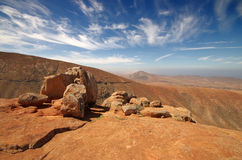 View of a landscape of Fuerteventura, Canary Islands, Spain, fro Royalty Free Stock Photos