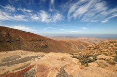 View of a landscape of Fuerteventura, Canary Islands, Spain, fro Stock Images