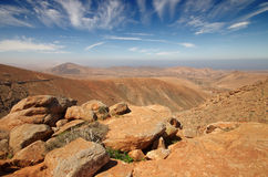 View of a landscape of Fuerteventura, Canary Islands, Spain, fro Royalty Free Stock Images
