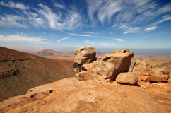View of a landscape of Fuerteventura, Canary Islands, Spain, fro Royalty Free Stock Photography