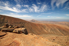 View of a landscape of Fuerteventura, Canary Islands, Spain, fro Stock Photography