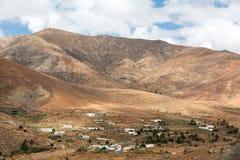 View of a landscape of Fuerteventura from Lookout Risco de las Penas, Stock Photo