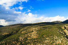 View landscape of the mountainous area of Upper Galilee. In sunny day, north Israel Stock Image