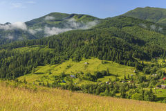 View of the landscape with mountains Royalty Free Stock Photography