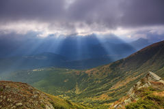 View of the landscape with mountains Royalty Free Stock Images