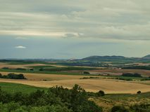 View of the landscape of South Moravia. Czech Republic stock images