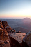 View landskap från berg moses Royaltyfria Foton