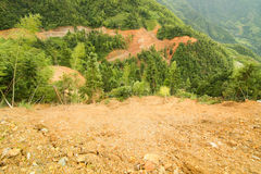 View of landslide in china Stock Photos