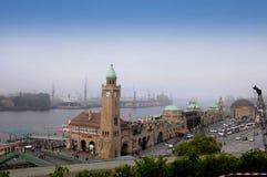 View from Landungsbrucken, Hamburg Royalty Free Stock Image