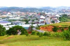 Lang Biang mountains or roof of dalat city Stock Image