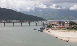 View of Lang Co town in Hue, Vietnam Stock Photos