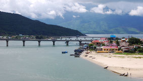 View of the Lang Co village in Hue, Vietnam Royalty Free Stock Images