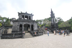 View of Lang khai dinh tomb in Hue, Vietnam Stock Photo