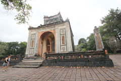 View of Lang khai dinh tomb in Hue, Vietnam Royalty Free Stock Photos