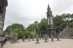 View of Lang khai dinh tomb in Hue, Vietnam Stock Photography