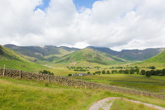 View of Langdale Valley Lake District Cumbria on walk to Blea Tarn from campsite Stock Photo