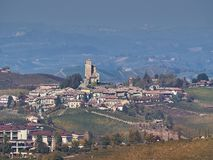 View of the Langhe countryside in Piedmont royalty free stock photos