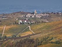 View of the Langhe countryside in Piedmont stock photos
