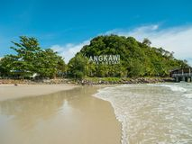 View of Langkawi Beach in Langkawi Island. Malaysia stock photography