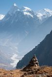 View of Langtang Valley with Mt. Sishapangma in the Background, Langtang, Bagmati, Nepal Royalty Free Stock Images