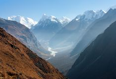 View of Langtang valley, Nepal Royalty Free Stock Photo