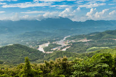 View for lannscape in luang prabang Stock Photography