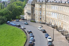 View of Lansdown Crescent in the City of Bath in Somerset England Stock Photos