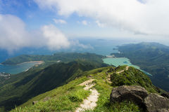 View from Lantau peak. Hong Kong, China Stock Images