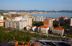 View of Laredo center. Cantabria Royalty Free Stock Image