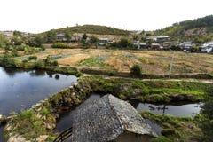Rio de Onor Communal Gardens Stock Image