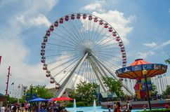 Navy Pier Chicago Ferris Wheel Stock Photo Image Of Navy Round
