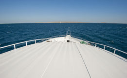 View from a large luxury motor yacht Stock Photos