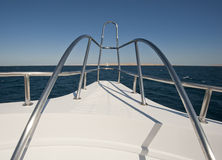 View from a large luxury motor yacht Stock Image