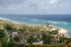 View of large resort hotel from above Royalty Free Stock Photo