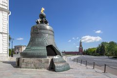 The Tsar Bell in Moscow, Russia. View of the largest bell in the world - the Tsar Bell in Moscow, Russia royalty free stock image