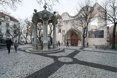 Largo do Carmo in Lisbon. A view of Largo do Carmo in Lisbon, Portugal Royalty Free Stock Image