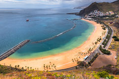 View of Las Teresitas Beach, Tenerife, Spain.  Stock Photography