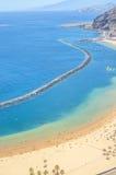 View of Las Teresitas Beach, Tenerife, Spain Royalty Free Stock Photography