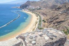 View of Las Teresitas Beach, Tenerife, Spain Royalty Free Stock Images