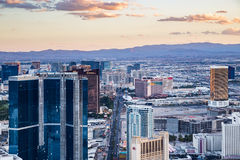 View of Las Vegas from Stratosphere Tower at dusk Stock Photography