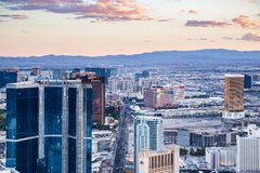View of Las Vegas from Stratosphere Tower at dusk Royalty Free Stock Photography