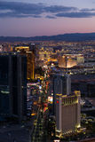 View of Las Vegas from Stratosphere Tower at night Stock Image