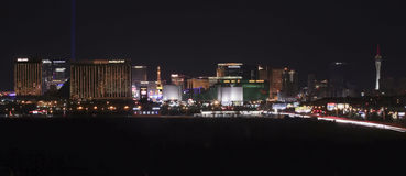 A View of the Las Vegas Strip Looking North Royalty Free Stock Image