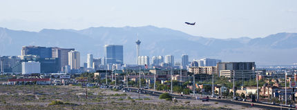 A View of the Las Vegas Strip Looking North Stock Images