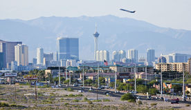 A View of the Las Vegas Strip Looking North Royalty Free Stock Images