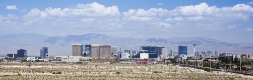 A View of the Las Vegas Strip Looking North Stock Image