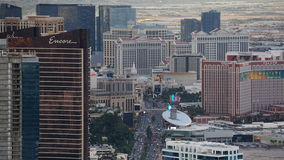 View of Las Vegas Strip from Stratosphere Royalty Free Stock Images