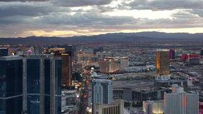 View of Las Vegas Strip from Stratosphere Royalty Free Stock Image